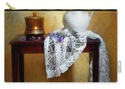 Lilacs And Lace Carry-all Pouch by Diana Angstadt