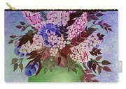 Lilacs And Queen Anne's Lace In Pink And Purple Carry-all Pouch
