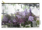 Lilacs Hanging Basket Window Reflection - Dreamy Lilacs Floral Art Carry-all Pouch