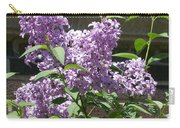 Lilacs Up Against The Wall Carry-all Pouch