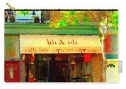 Lili And Oli Latte Espresso Cappucino Coffee Shop Rue Notre Dame St Henri City Scene Carole Spandau Carry-all Pouch