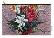 Lilies And Orchids Digitized Purple Carry-all Pouch