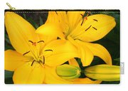 Lillies In Yellow Carry-all Pouch