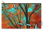 Lilly Pulitzer Inspired Abstract Art Colorful Original Painting Spring Blossoms By Madart Carry-all Pouch