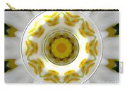 Lily And Daffodil Kaleidoscope Under Glass Carry-all Pouch