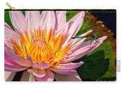 Lily And Dragon Fly Carry-all Pouch by Nick Zelinsky