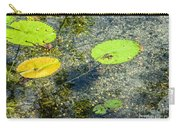 Lily Leafs On The Water Carry-all Pouch