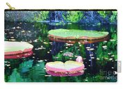 Lily Leaves Painterly  Carry-all Pouch