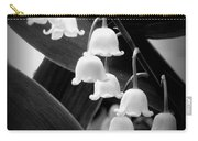 Lily Of The Valley Black And White Carry-all Pouch