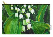 Lily Of The Valley Carry-all Pouch by Zaira Dzhaubaeva