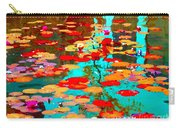 Lily Pads And Koi Colorful Water Garden In Bloom Waterlilies At The Lake Quebec Art Carole Spandau  Carry-all Pouch
