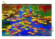 Lily Pads And Koi  Pond Waterlilies Summer Gardens Beautiful Blue Waters Quebec Art Carole Spandau  Carry-all Pouch