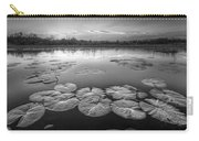 Lily Pads In The Glades Black And White Carry-all Pouch