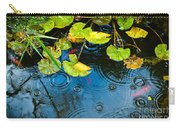Lily Pads Ripples And Gold Fish Carry-all Pouch