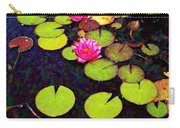 Lily Pads With Pink Flowers - Square Carry-all Pouch