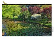 Lily Pond And Colorful Gardens Carry-all Pouch