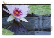 Lily Purple And White Carry-all Pouch
