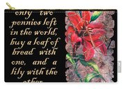 Lily Quote Carry-all Pouch