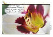 Lily With Scripture Carry-all Pouch