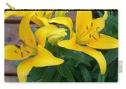 Lily Yellow Flower Carry-all Pouch