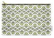 Lime Green And White Vines Carry-all Pouch