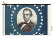 Lincoln 1860 Presidential Campaign Banner - Bust Portrait Carry-all Pouch