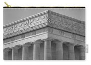Lincoln Memorial Columns Bw Carry-all Pouch by Susan Candelario