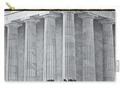 Lincoln Memorial Pillars Bw Carry-all Pouch