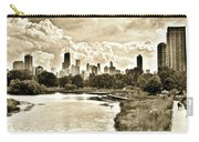 Lincoln Park View Sepia Carry-all Pouch