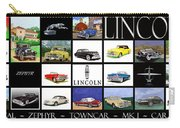 Poster Of Lincoln Cars Carry-all Pouch