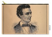 Lincoln Temperance, 1842 Carry-all Pouch
