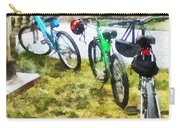 Line Of Bicycles In Park Carry-all Pouch
