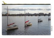 Line Of Boats On The Charles River Carry-all Pouch