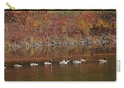 Line Of Geese On The Quinapoxet River Carry-all Pouch