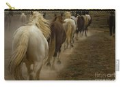 Line Of Mares Carry-all Pouch