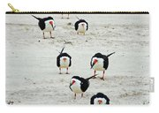 Line Up Black Skimmers  Carry-all Pouch