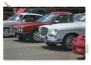 A Line Up Of Vintage Cars Carry-all Pouch