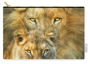 Lion And Lioness- African Royalty Carry-all Pouch