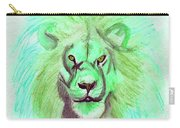 Lion Blue By Jrr Carry-all Pouch