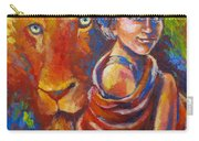 Lion Covering Carry-all Pouch