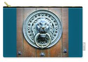 Lion Door Knocker In Norway Carry-all Pouch