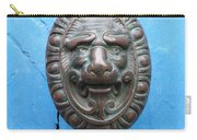 Lion Face Door Knob Carry-all Pouch by Lainie Wrightson