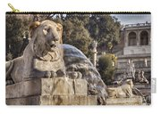 Lion Fountain In Rome Italy Carry-all Pouch