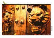 Lion Heads Gothic Door Carry-all Pouch