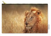 Lion In Grass Carry-all Pouch