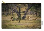 Lion In The Dog House Carry-all Pouch