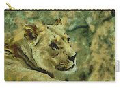 Lion Looking Back Carry-all Pouch
