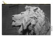 Lion Of The Art Institute Chicago B W Carry-all Pouch