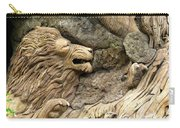 Lion On The Tree Of  Life Carry-all Pouch