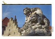 Lion Statue In Bruges Carry-all Pouch